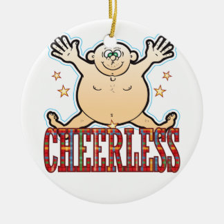 Cheerless Fat Man Round Ceramic Decoration