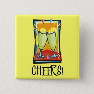 Cheers! 15 Cm Square Badge
