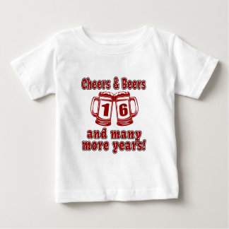 Cheers And Beers 16 Years Tshirts