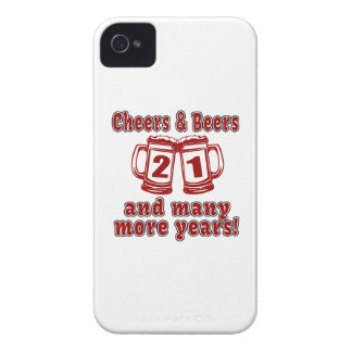 Cheers And Beers 21 Years iPhone 4 Cases