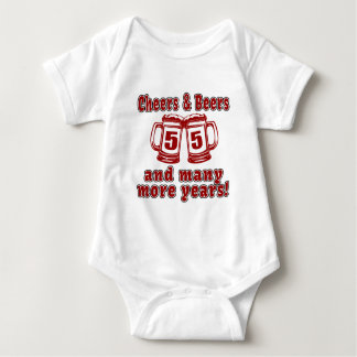 Cheers And Beers 55 Birthday Designs Infant Creeper