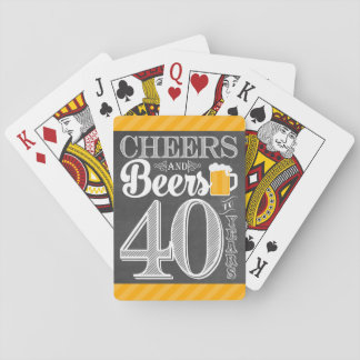 Cheers and Beers to 40 Years Playing Cards