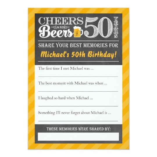 Cheers and Beers to 50 Years • Share