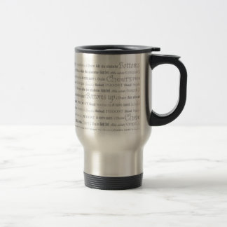 Cheers_Around The World all-grey typeface Stainless Steel Travel Mug