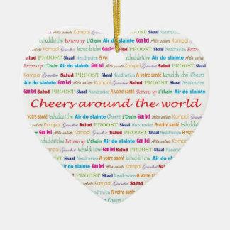 Cheers_Around The World necklace keepsake Christmas Ornament