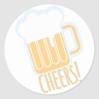 Cheers Beer Round Sticker