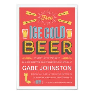 Cheers & Beers 13 Cm X 18 Cm Invitation Card