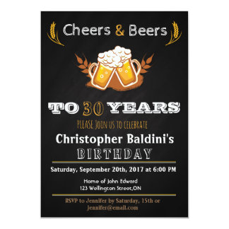 CHEERS & BEERS BIRTHDAY INVITATION FOR ANY AGE