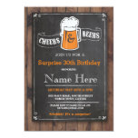 Cheers & Beers Birthday Party ANY AGE Beer Invite