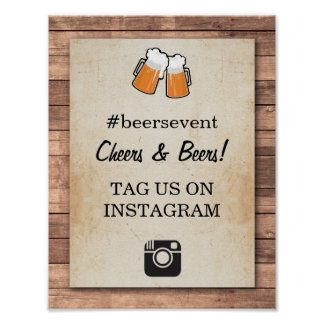 Cheers & Beers Instagram Sign Photo Event Party