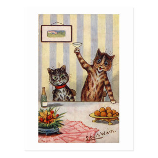 Cheers Cat, Louis Wain Postcard