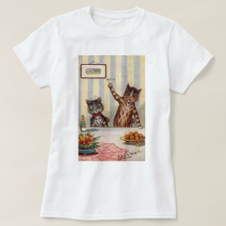 Cheers Cat, Louis Wain T-Shirt