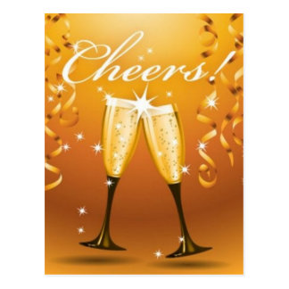 Cheers celebration postcard