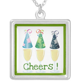CHEERS! CHAMPAGNE PARTY HAT PRINT JEWELRY