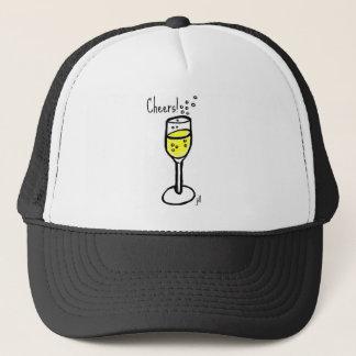 Cheers! Champagne sketch by jill Trucker Hat