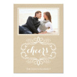 Cheers craft paper rustic Christmas flat photo Personalized Announcements