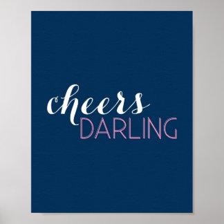 Cheers Darling Bar Cart Art Poster