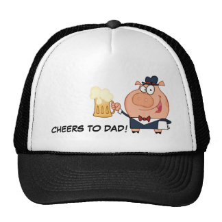 Cheers Father s Day Toast Trucker Hat
