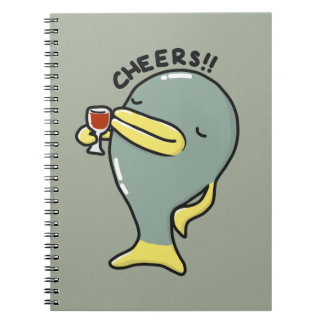 Cheers Fish Spiral Photo Notebook