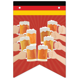 Cheers for Oktoberfest! Beers for Everyone! Bunting