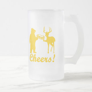 Cheers ! frosted glass beer mug