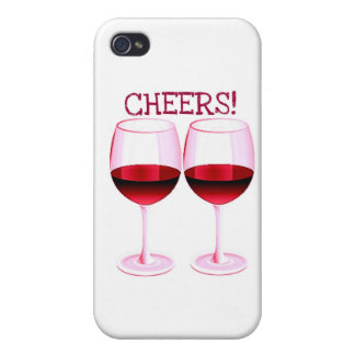 CHEERS! FUN PARTY RED WINE PRINT iPhone 4/4S CASE