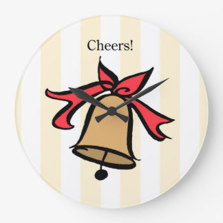 Cheers Gold Bell Wall Clock Yellow