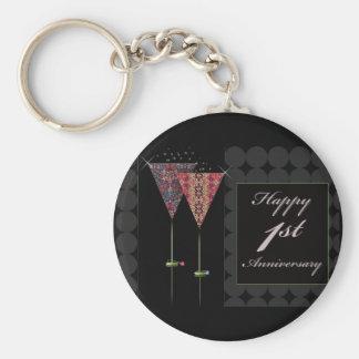 Cheers - Happy 1st Anniversary Keychains