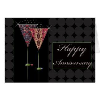 Cheers - Happy Anniversary Greeting Card