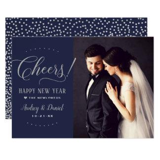 Cheers Happy New Year | Wedding Photo Card