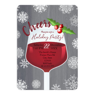 Cheers- Holiday cocktail party invitation