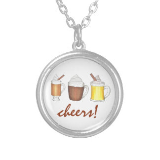 Cheers! Holiday Drinks Egg Nog Rum Cocoa Necklace