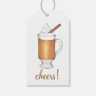 Cheers! Hot Buttered Rum Winter Holiday Gift Tags