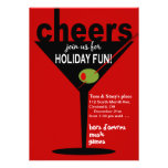 Cheers Martini Holiday Christmas Party Personalised Invitations