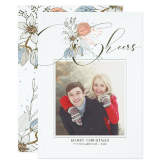 Cheers - Merry Christmas Photo Card