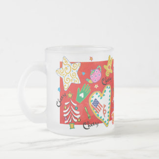 'Cheers' Frosted Glass Mug