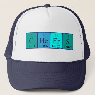 Cheers periodic table word hat