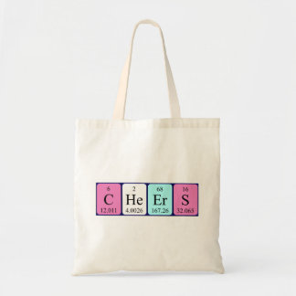 Cheers periodic table word tote bag