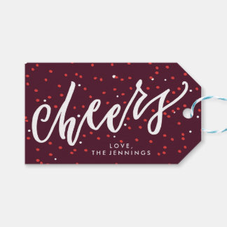 Cheers Personalized Holiday Gift Tag