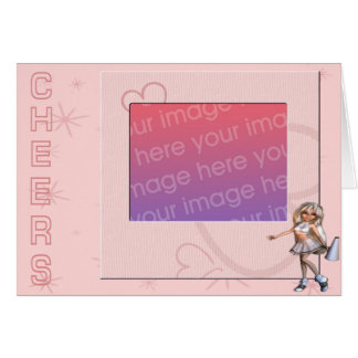 Cheers Photo Frame Greeting Card