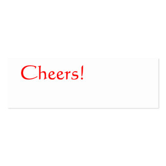CHEERS Red Simple Plain Celebration Thin Gift Tag Pack Of Skinny Business Cards