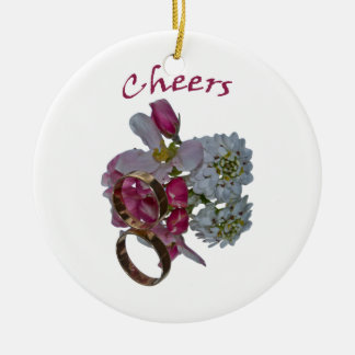 Cheers-Romantic Ceramic Decorations Round Ceramic Decoration