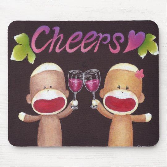 Cheers Sock Monkeys Mousepad