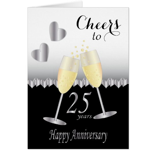 Cheers to 25 years Anniversary | DIY Text