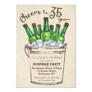 Cheers to 35 years Birthday Invitation
