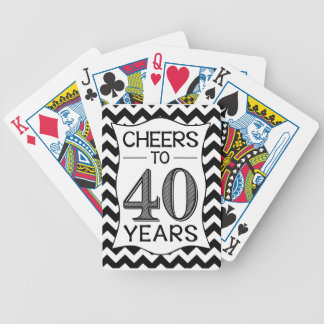 Cheers to 40 Years Bicycle Playing Cards