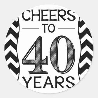 Cheers to 40 Years Round Sticker