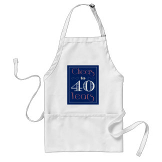 Cheers to 40 Years Standard Apron