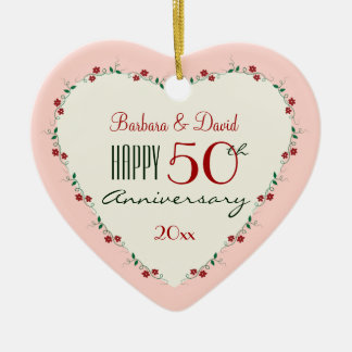 Cheers to 50th Wedding Anniversary Christmas Gifts Christmas Ornament