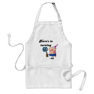 Cheers to 60 Birthday Tshirts and Gifts Standard Apron